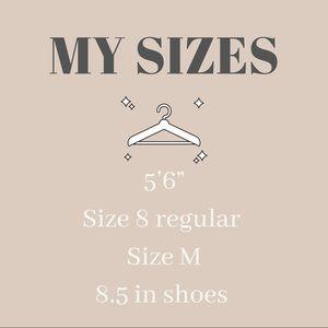 My Sizes